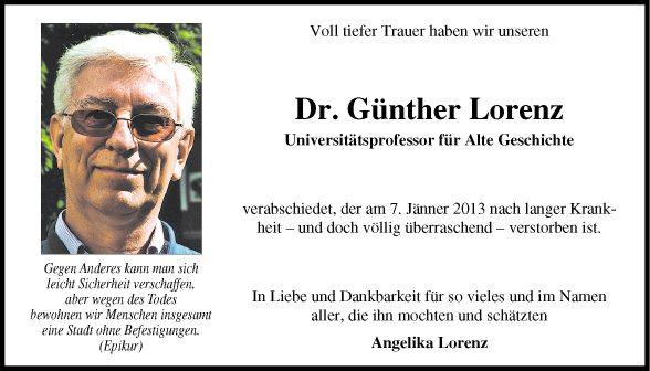 Dr. Günther Lorenz