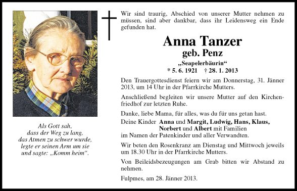 Anna Tanzer