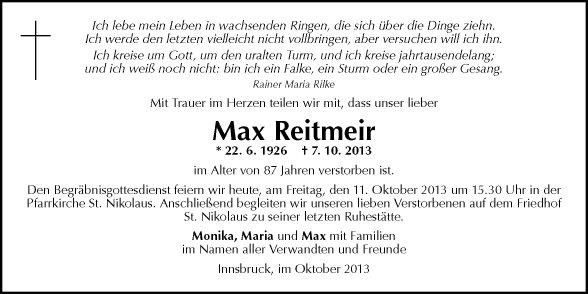 mein leben und ich sprüche von alex Traueranzeigen | Tiroler Tageszeitung Online mein leben und ich sprüche von alex
