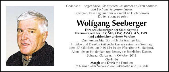 Wolfgang Seeberger