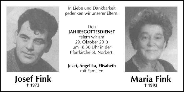 Fink Maria + Josef