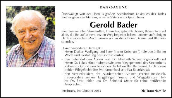 Gerold Bader