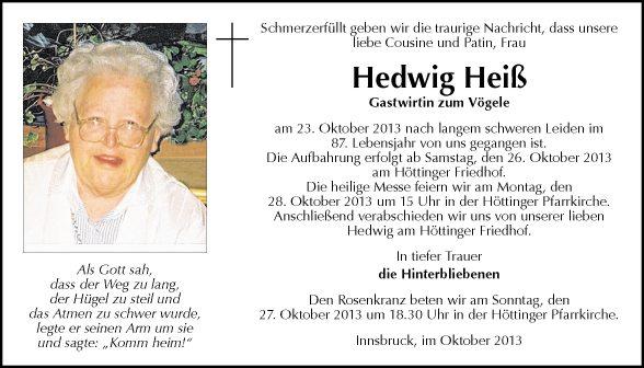 Hedwig Heiß