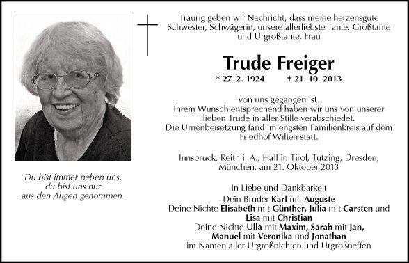 Gertrude Freiger
