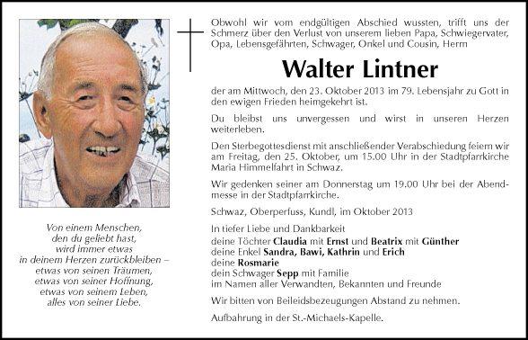 Lintner Walter