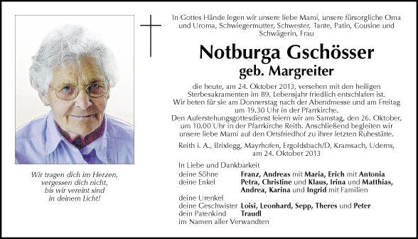 Notburga Gschösser