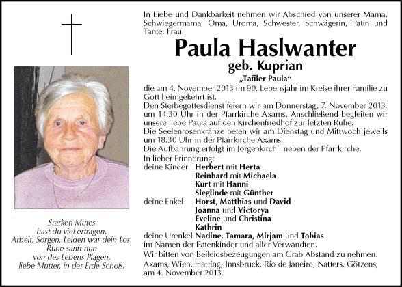 Paula Haslwanter