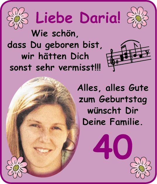Liebe Daria