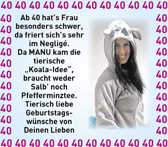 Geburtstagswunsche 40 Frau Geburtstag