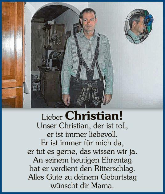 Lieber Christian