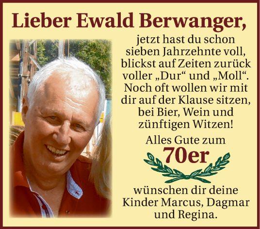 Lieber Ewald Berwanger,