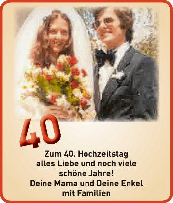 Zum 40. Hochzeitstag
