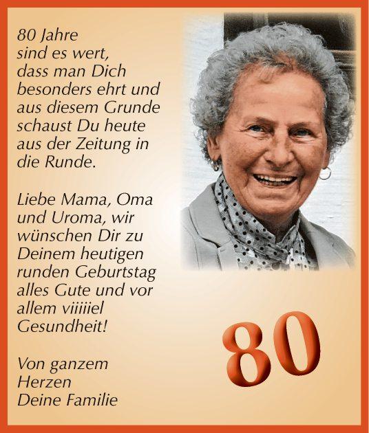 80 geburtstag der mutter