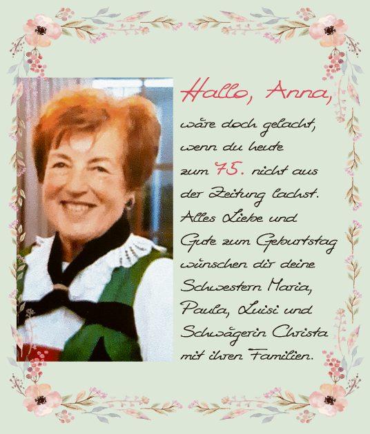 Hallo Anna