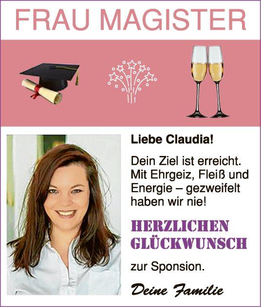 Frau Magister