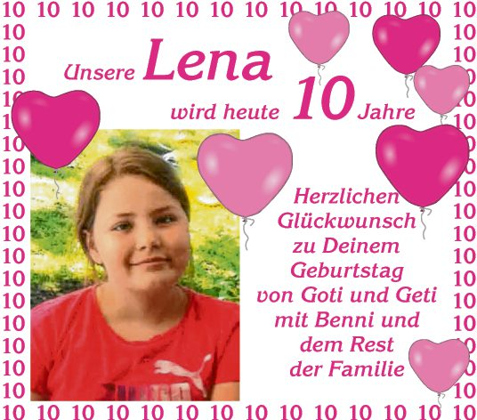 Lena 10 Jahre