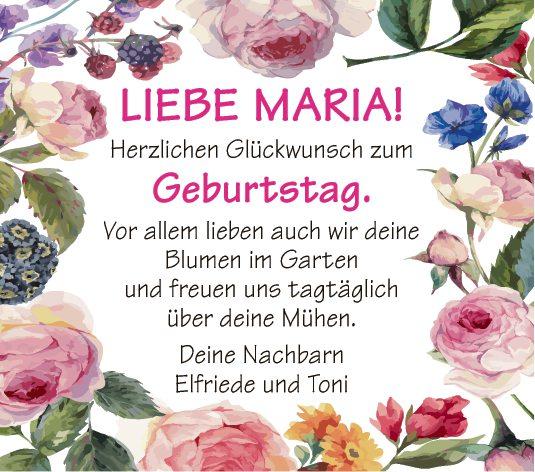 Liebe Maria