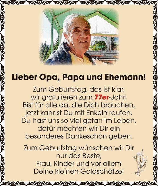 Lieber Opa