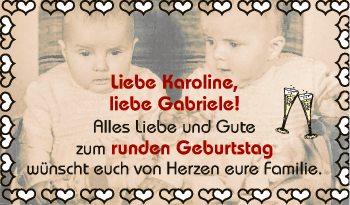 Liebe Karoline,