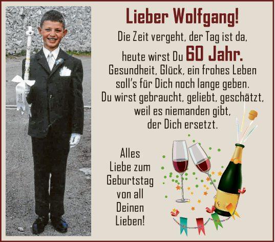 Lieber Wolfgang