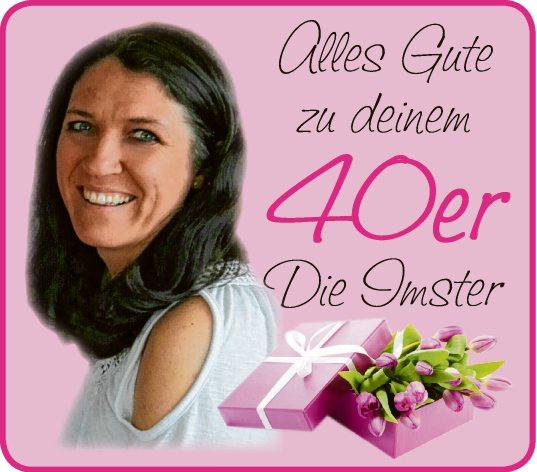 Gabi 40. Geburtstag