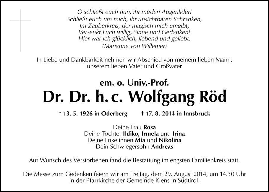 Dr. Dr. Wolfgang Röd