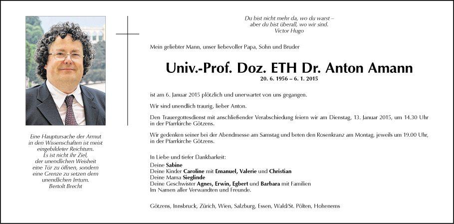 Univ.-Prof. Dr. Anton Amann