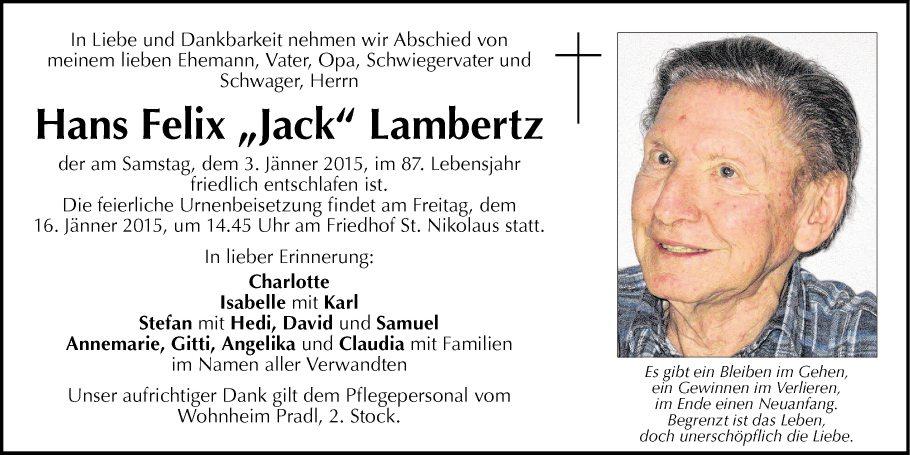 Hans Felix Lambertz