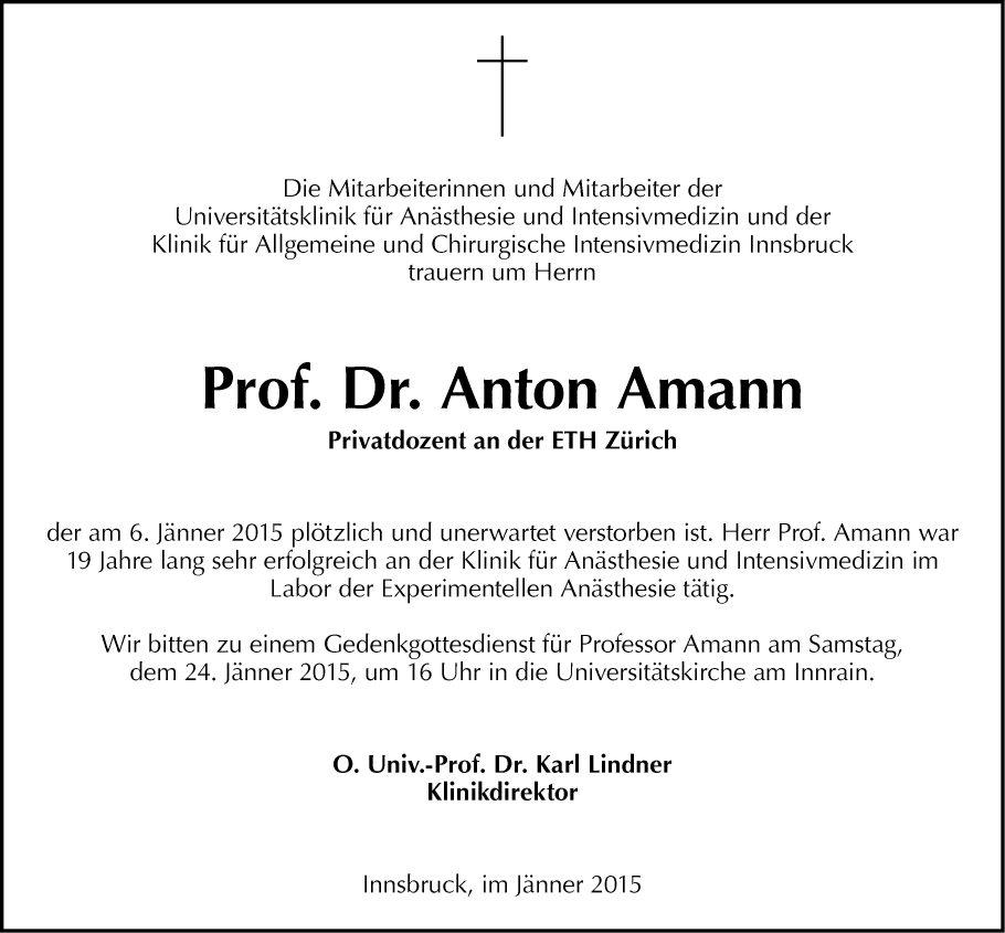 Dr. Anton Amann