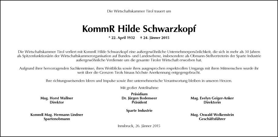 Hilde Schwarzkopf