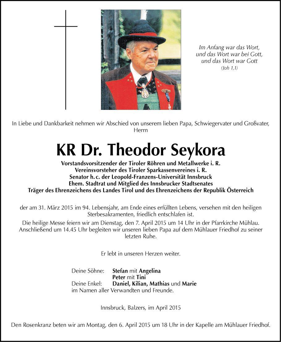 Dr. Theodor Seykora