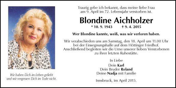 Blondine Aichholzer