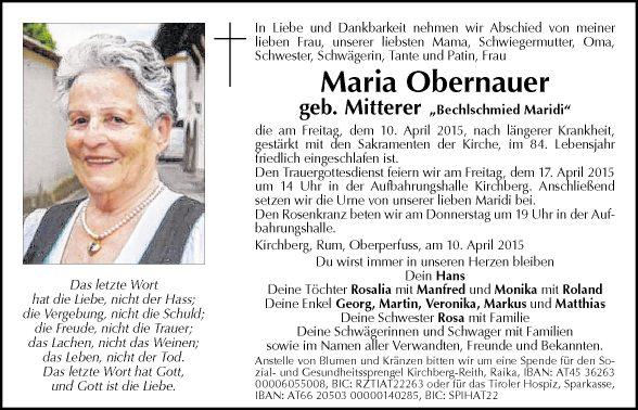 Maria Obernauer