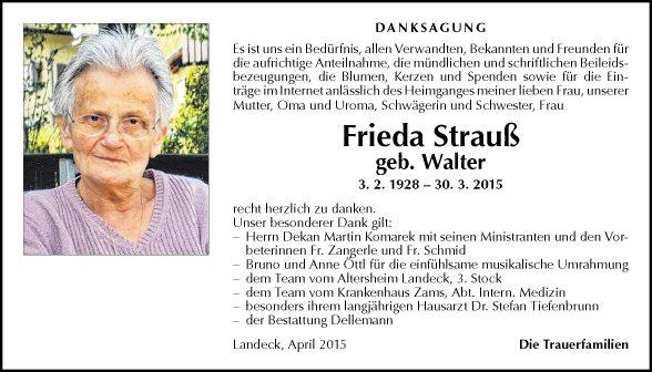 Frieda Strauß