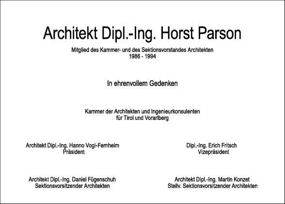 Arch.Dipl.-Ing. Horst Parson