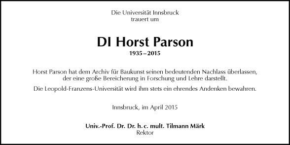 Horst Parson