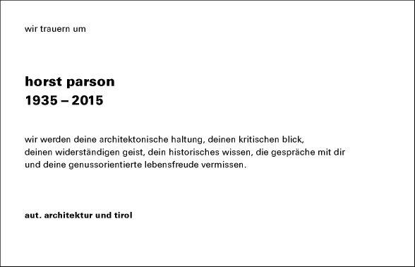 Dipl. Ing. Horst Parson