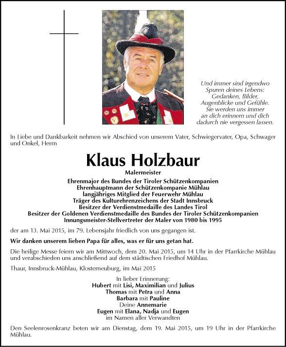 Klaus Holzbaur Bild