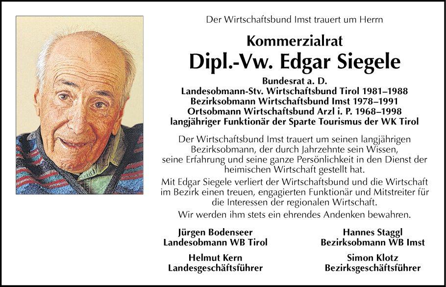 Dipl.-Vw. Edgar Siegele