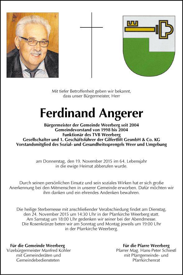 BM Ferdinand Angerer Bild