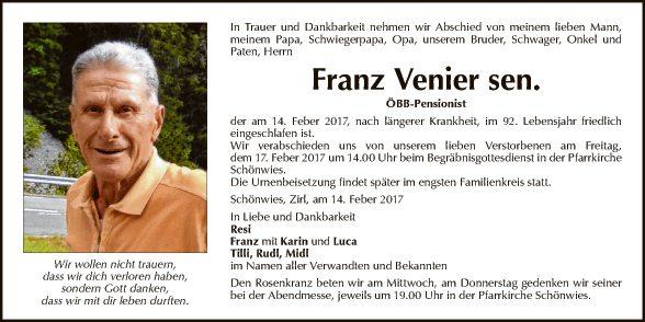 Franz Venier sen.