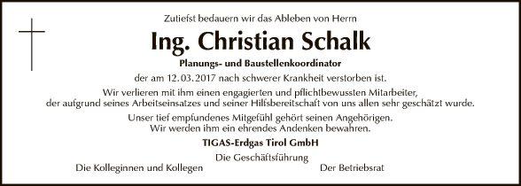 Ing. Christian Schalk