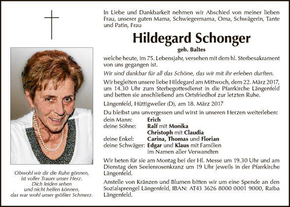 Hildegard Schonger
