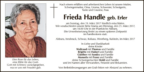 Frieda Handle