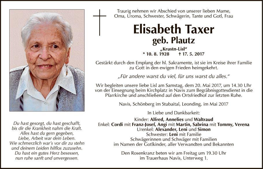 Elisabeth Taxer