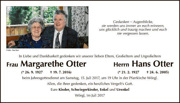 Margarethe + Hans Otter