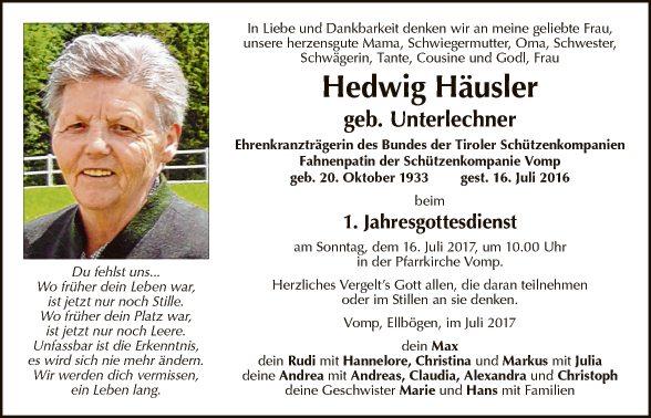 Hedwig Häusler