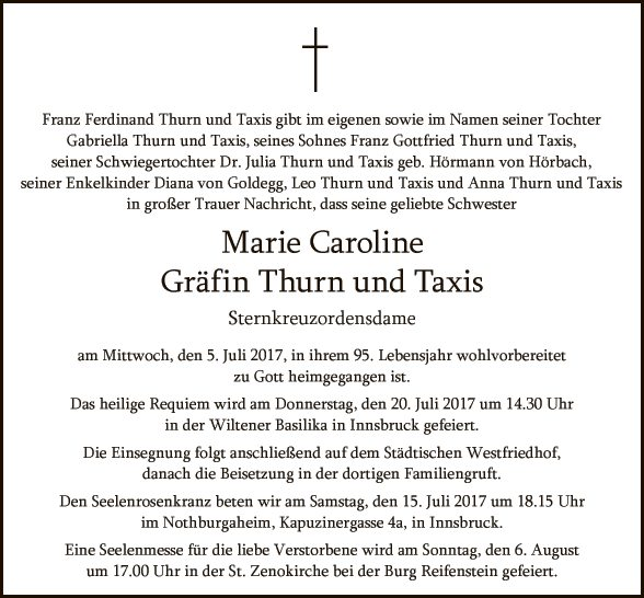 Marie Thurn Valsassina und Taxis