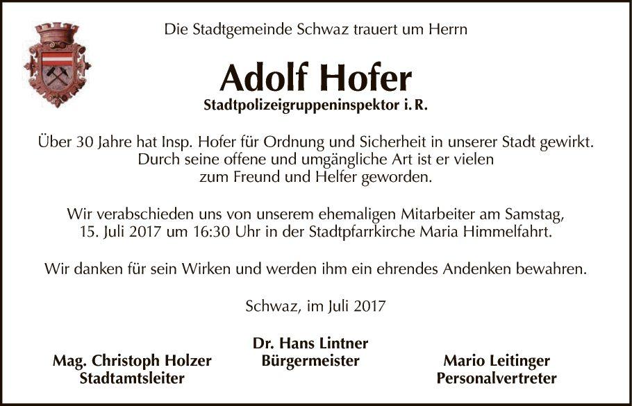 Adolf Hofer