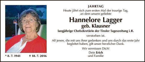 Hannelore Lagger